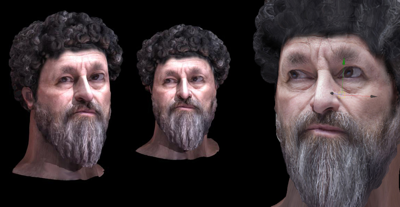 Restauro digitale statua equestre di Marco Aurelio