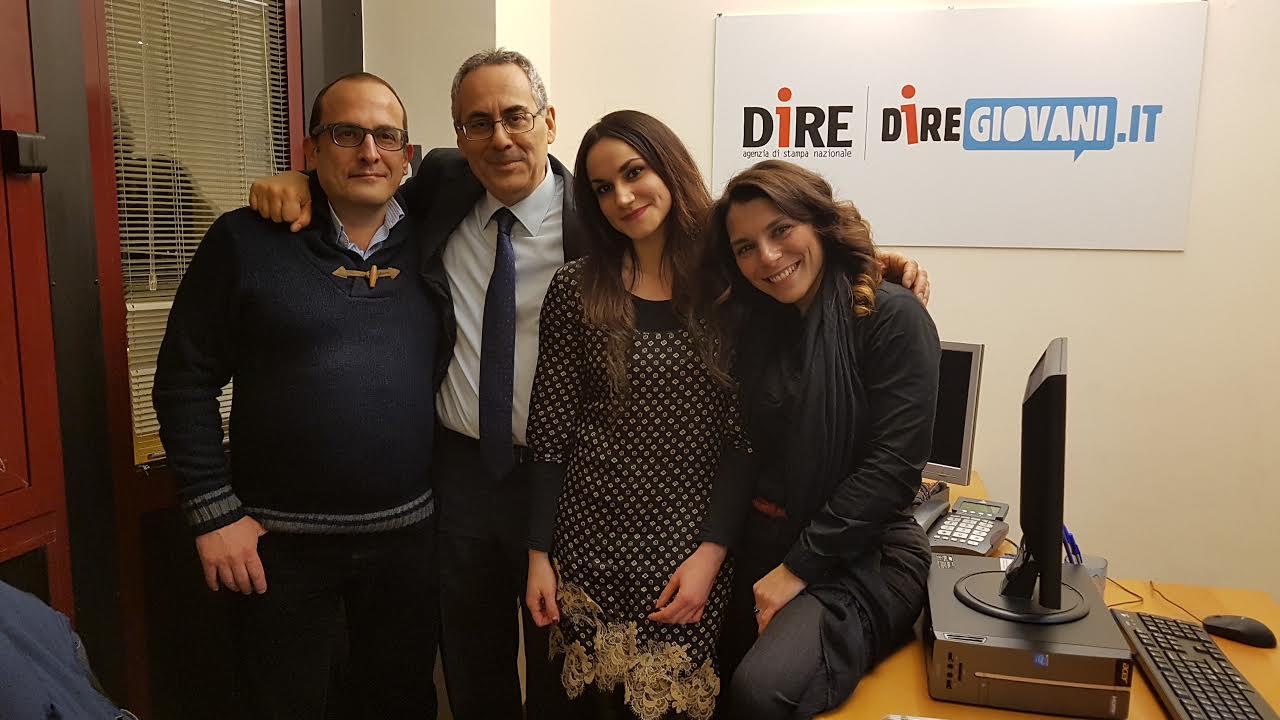 La redazione Campania con il direttore Nico Perrone